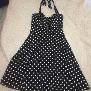 Sara Dresses & Skirts - L polka dot pinup halter dress