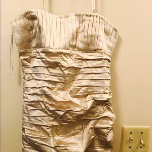 Calvin Klein olive toned beige dress