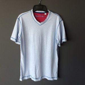 Robert Graham Men's v neck t shirt