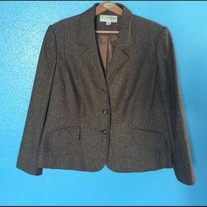 Sag Harbor Jackets & Blazers - Sag Harbor brown blazer