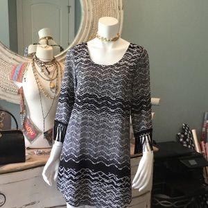 Karen Kane Dresses & Skirts - BNWT KAREN KANE FRINGED SCOOP BACK DRESS