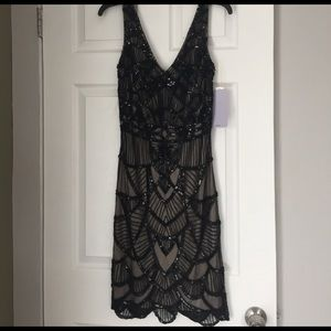 JS Collections Dresses & Skirts - NWT Black Art Deco Beaded Dress