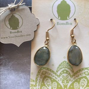 bondhu Jewelry - Labradorite 24K Gold Plated Earrings