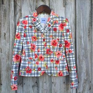Moschino Jackets & Blazers - Moschino Cheap & Chic Floral Plaid Blazer