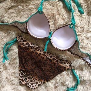 b93a9afe9ea47 Swim - ⛱SALE Sexy Leopard + Aqua Padded Push up Bikini