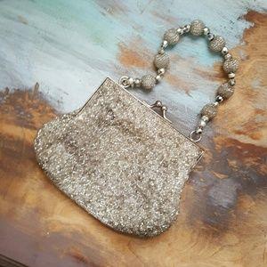 Vintage silver beaded bag