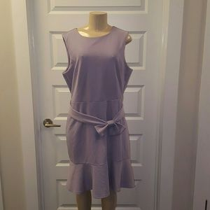 The Limited Dresses & Skirts - Purple Lilac midi dress with ruffled bottom & bow