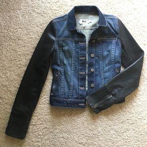 PAIGE Denim Jacket with coated sleeves - XS