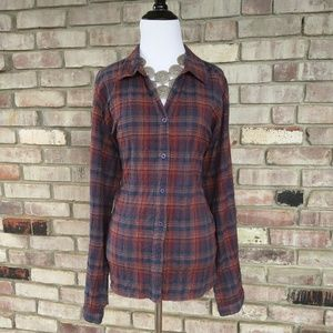 3/$15 Ladies Plaid Button Down by Woolrich