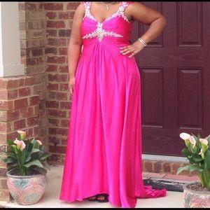 Pink Plus Size Prom Dress