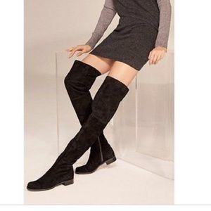 Stuart Weitzman Shoes - Thigh high black suede boots