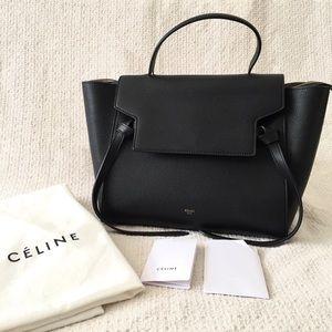 Like new! Celine black mini belt bag