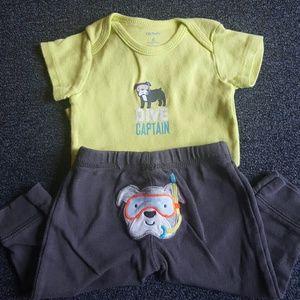 Carter's Other - 2 pc pants set sz 3-6 mos