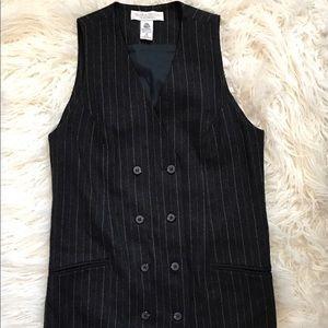 Valerie Stevens Dresses & Skirts - VALERIE STEVENS Wool Striped Blazer Dress Size 8