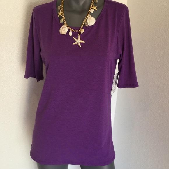 🦄💐Hello beautiful Gigi NWT solid purple