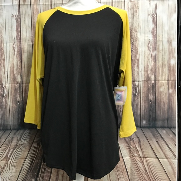 22% off LuLaRoe Tops - New LuLaroe Randy shirt black & yellow XL ...