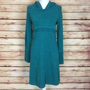 Prana Dresses & Skirts - Prana Teal Tunic Long Sleeve Hooded Dress Medium