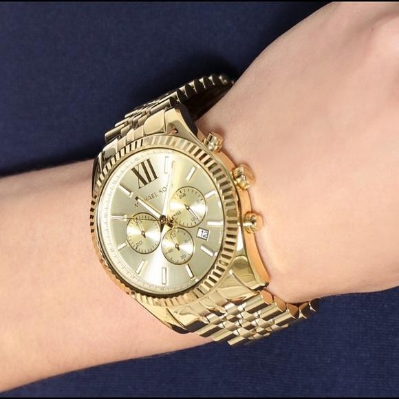 408beb9f609c  Michael Kors  MK8281 Gold Lexington Watch Unisex.  M 59ac47c913302a147e06c012