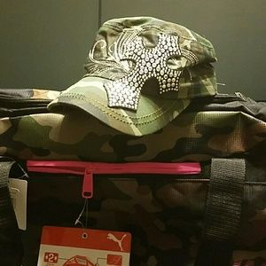 Kbethos Accessories - Camouflage bling cross hat
