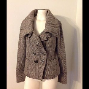 Anthro Millard Fillmore Herringbone Tweed Jacket M