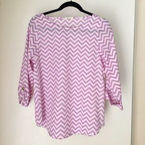 Everly Lavender Chevron Blouse