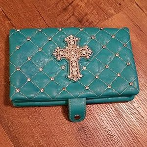 Rustic Coutures change/money/checkbook wallet