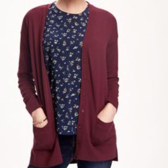 Old Navy - Maroon boyfriend cardigan from Anna's closet on Poshmark