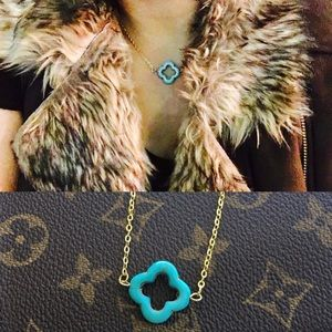 larochelle Jewelry - Turquoise Clover choker necklace
