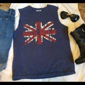 Mini Boden Tops - Cute Union Jack British shrt sleeve graphic t szXs