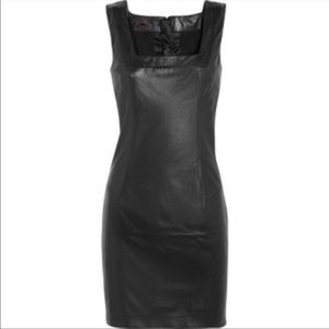 L'Wren Scott Dresses & Skirts - L'Wren Scott Black Leather Mini dress