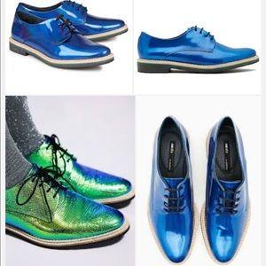 Miista Shoes - MIISTA ZOE BLUE leather OXFORDS 38