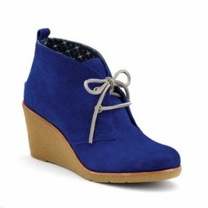 Sperry Top-Sider Shoes - SPERRY ⛵️🌊 Blue Suede Harlow Wedge