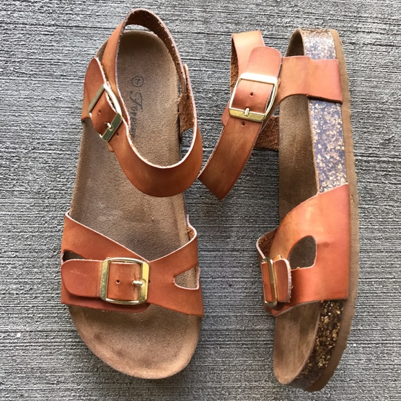 64a5325b84d9 Forever 21 Shoes -  F21  birkenstock style brown sandals 7