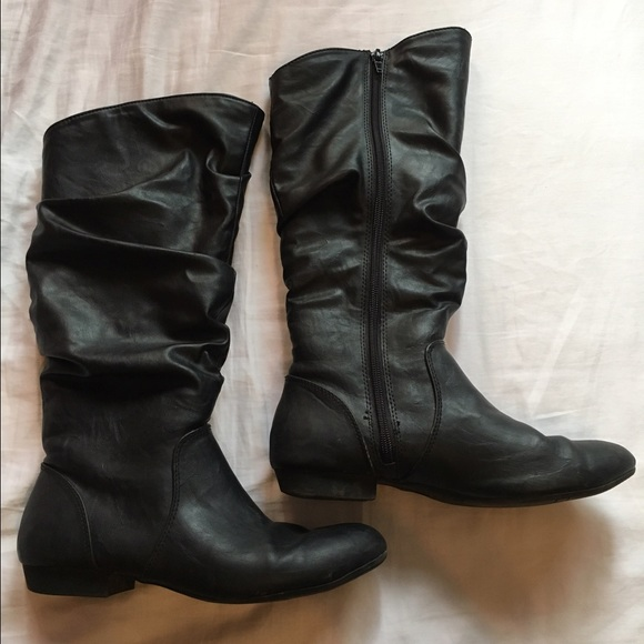 0ce30c9b1be Lower East Side at Payless Shoes - Fur-lined black boot from Payless