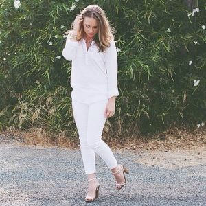 Victoria's Secret White Strappy Sandal with Heel