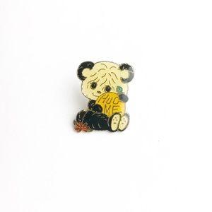 """Vintage Accessories - Vintage """"Hug Me"""" Panda Enamel Pin"""