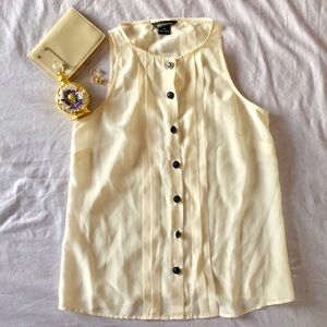 Silk Button Sleeveless Blouse/Tank (NWOT!)