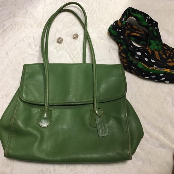Coach Handbags - Green coach bag