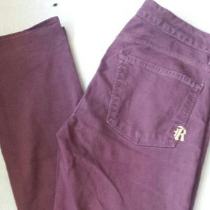 Denim - Rich & Skinny Demin Jeans Maroon /Purple 30