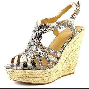 Fergalicious Shoes - NWT NIB Snakeskin & Espadrille Inspired Wedge