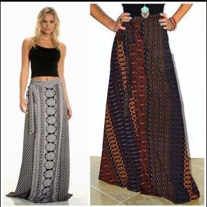 Elan Dresses & Skirts - NWT Elan Maxi Wrap skirt - Boho Style