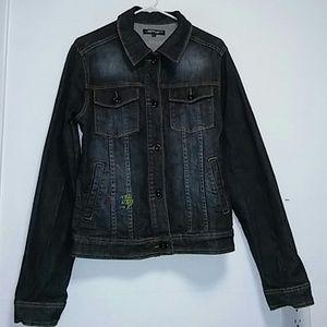 Ed Hardy Women's Denim Jacket Sz L