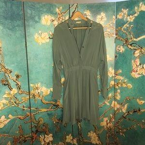 20% off bundle sale! Anthro silk shirt dress