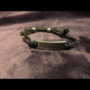 "Jewelry - ""FORGIVEN"" adjustable cord bracelet"