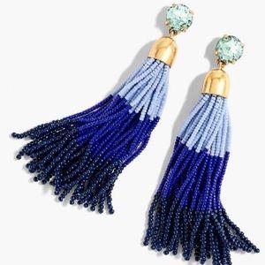 Jcrew colorblock tassel earrings