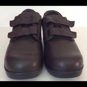 Shoes - Apex Oxford Women's Walking Shoes Brown Leather