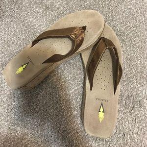 Volatile Shoes - Bronze Volatile Sandals