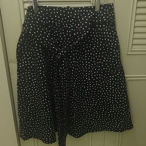 Brooks Brothers Dresses & Skirts - Brooks Brothers 8 a-line polka dot bow front skirt