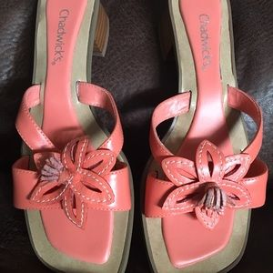 Chadwicks Shoes - Chadwick's Hot Coral Sandals.