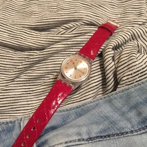 Swatch Accessories - Basic Red Swatch Watch